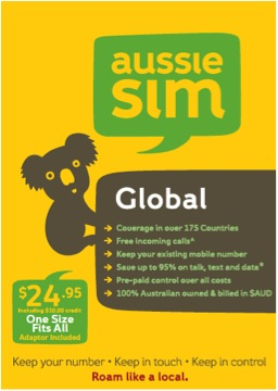Aussie Sim Mobile Phone Options for Travelling Abroad