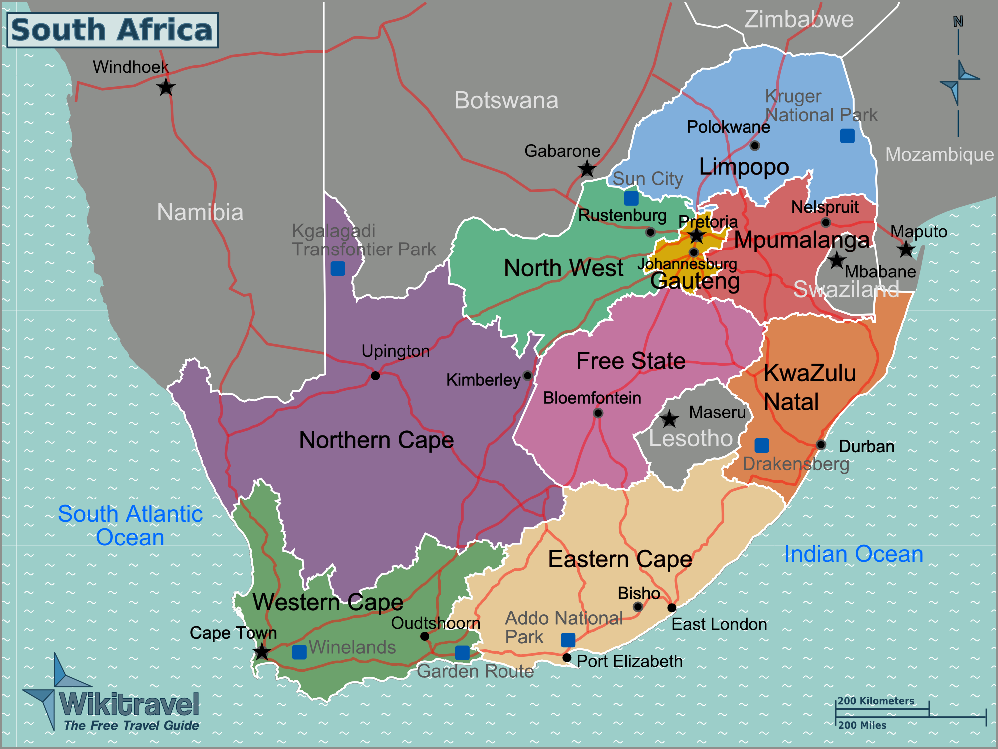 south africa map test