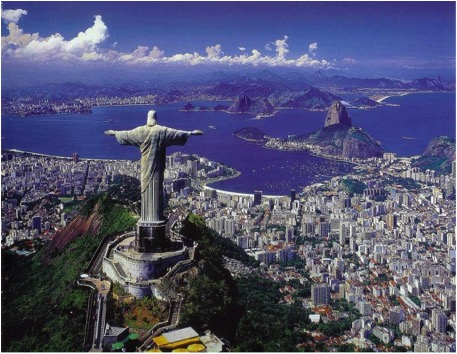 Christ the Redeemer statue in Brazil, South America