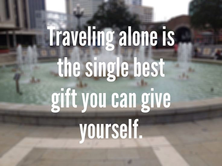 travelling alone quote