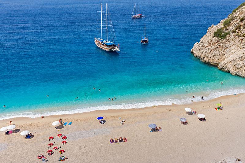 Beach in Antalya, Turkey on European Holiday