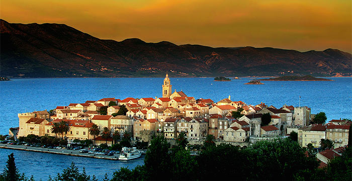 korcula Sunset In Croatia
