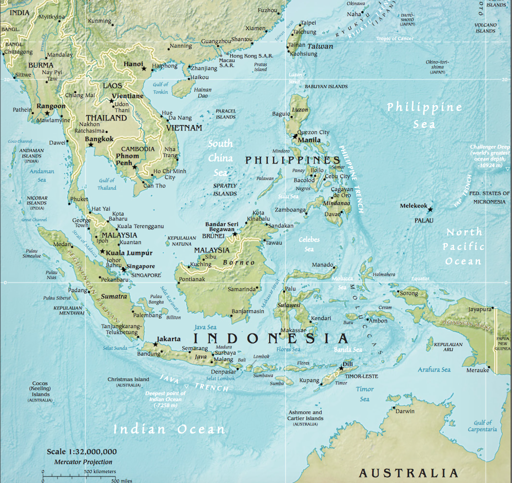 Map of South East Asia: http://www.lib.utexas.edu